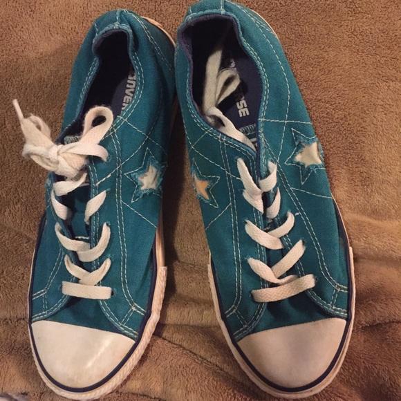 29030d5f002f Converse Other - Size 5 junior - converse shoes - aqua   teal
